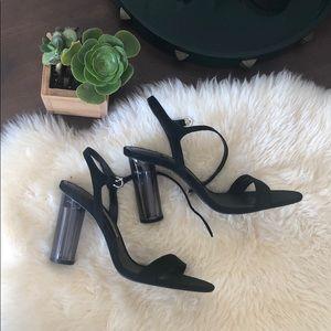 ZARA Clear Block Heels